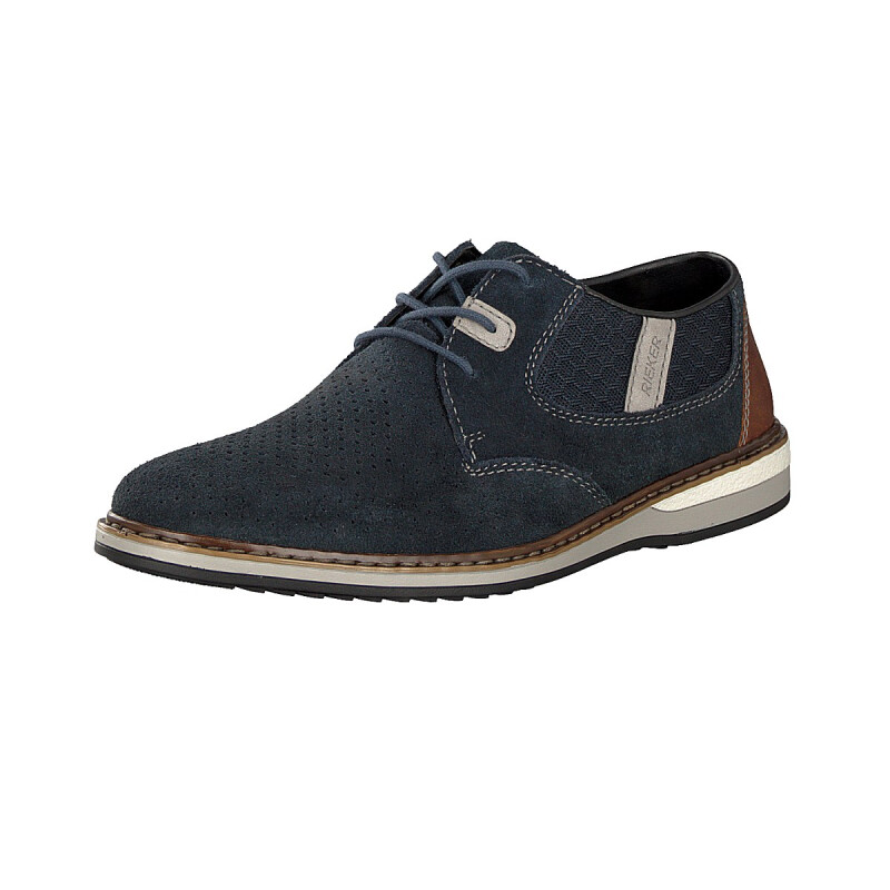 Rieker men lace-up shoe blue