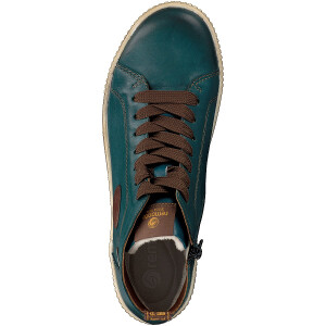 Remonte women lace-up boot blue