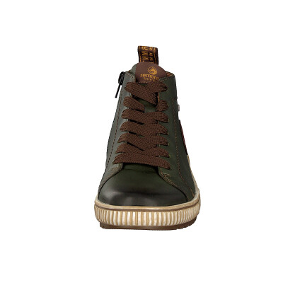 Remonte women lace-up boot green