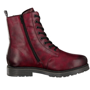 Remonte women lace-up boot red