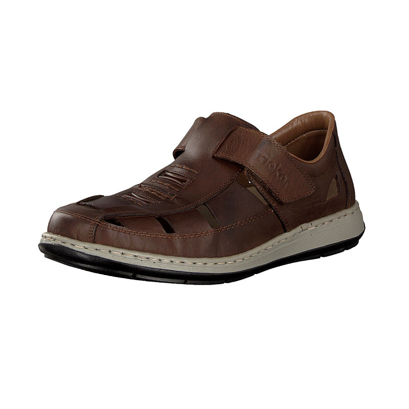 Rieker men velcro shoe brown