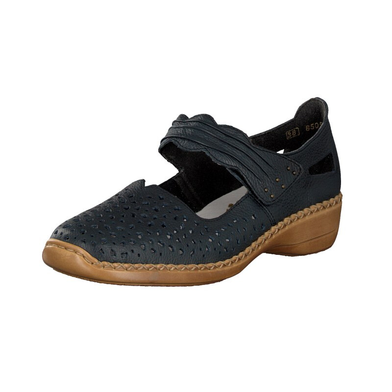Rieker Damen Slipper blau 41399-14