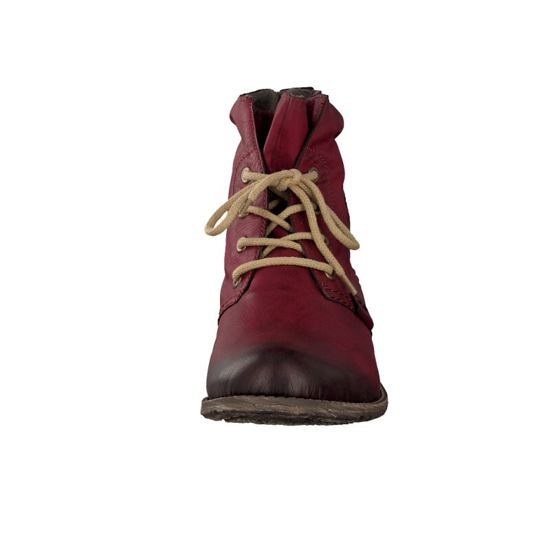 Rieker women lace up boots red 74748-35