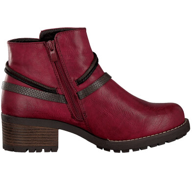 Rieker ankle boot red