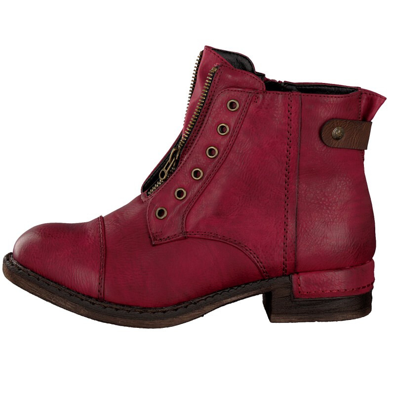 Rieker women bootee red 90063-35