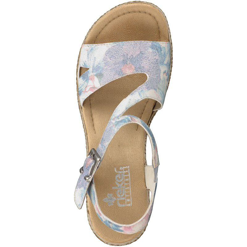 Rieker women sandal blue 69089-90