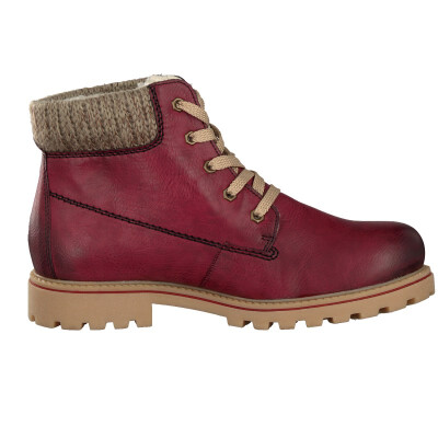 Rieker women lace-up boot red Z1420-37