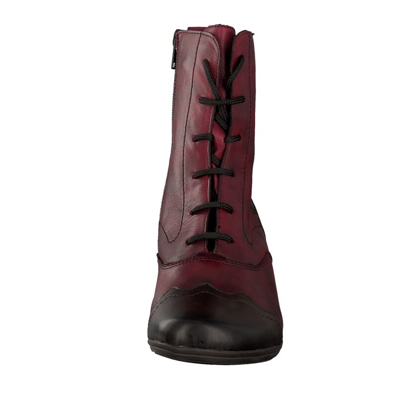 Remonte by Rieker women lace-up boot red D1271-35