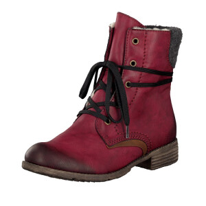 Rieker women lace-up boot red 74722-35