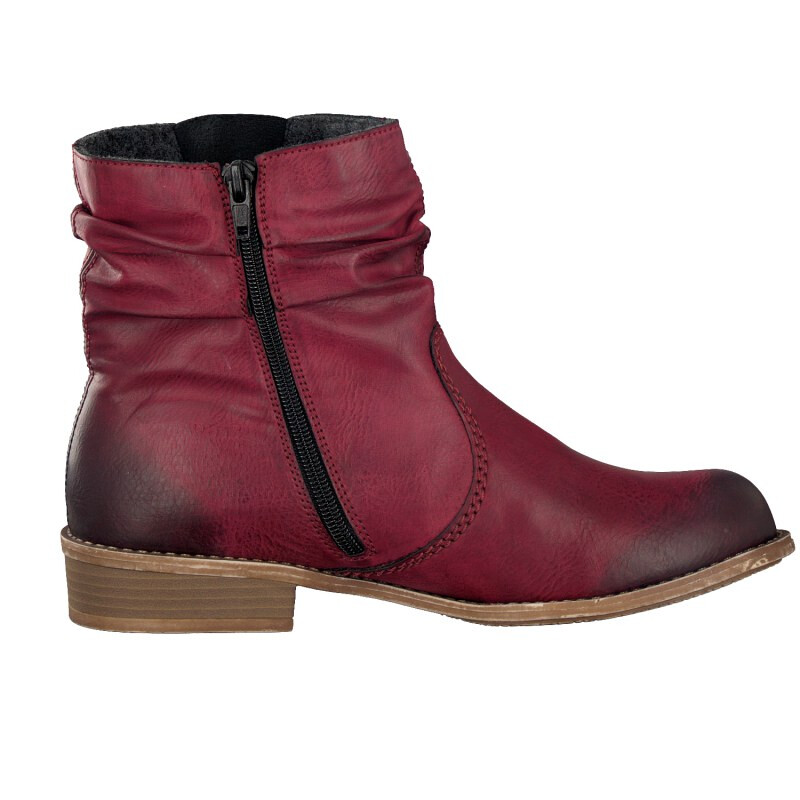 Rieker women ankle boot red 72769-35 3,5