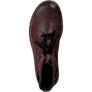 Rieker lace-up boot red