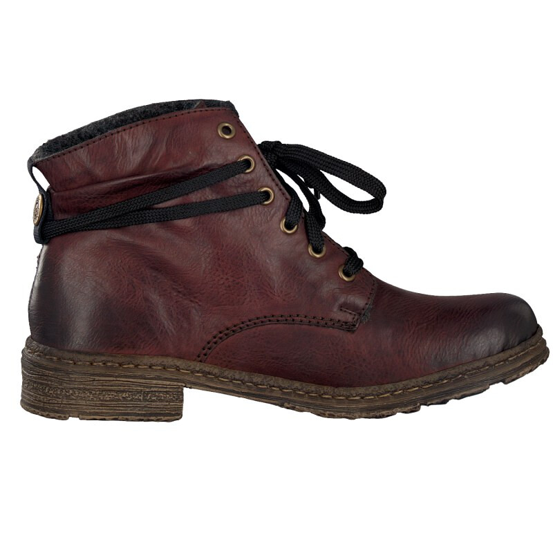 Rieker women lace up boot red 74220-35 3,5