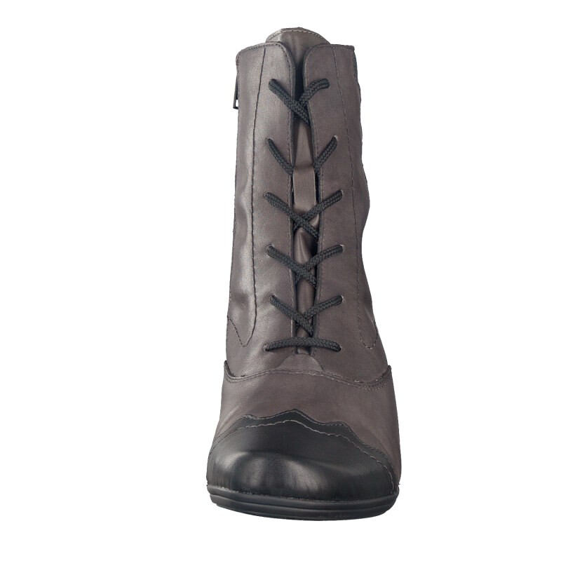 Remonte by Rieker women lace-up boot grey D1271-45