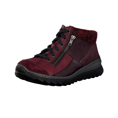 Rieker women lace-up boot red M6243-35