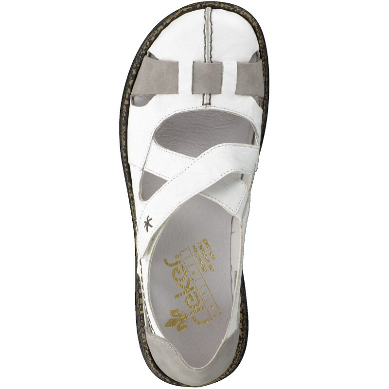 big sale f8a50 0add2 Rieker Damen Slipper weiss 46367-80