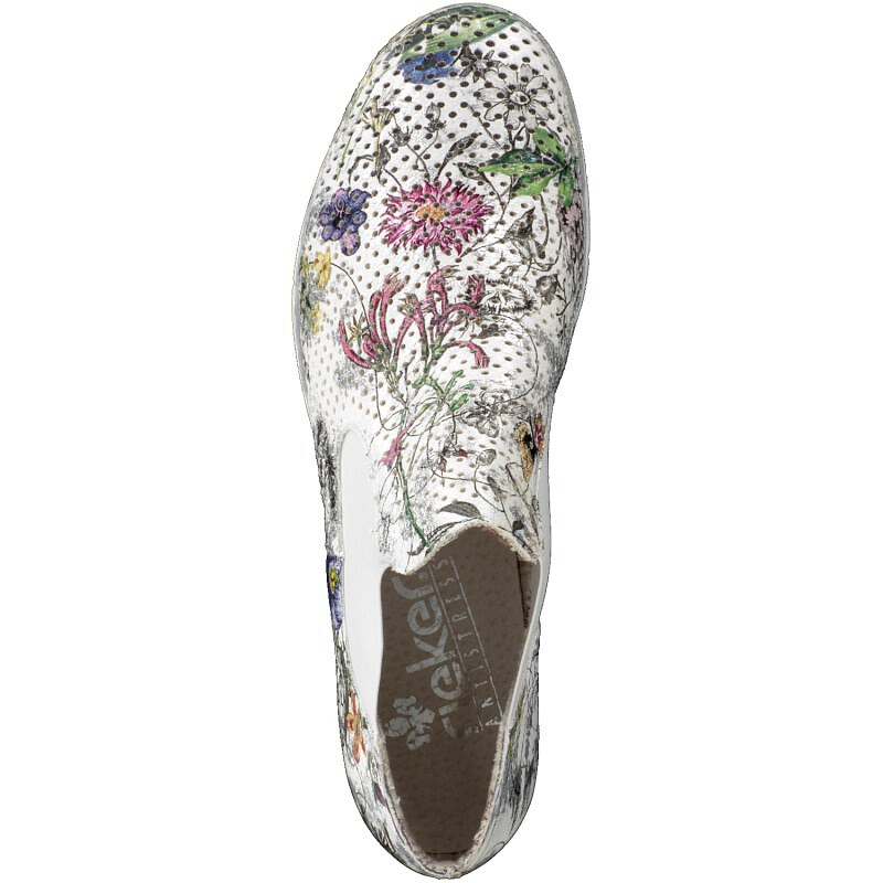 Rieker Damen Slipper bunt M1397-90