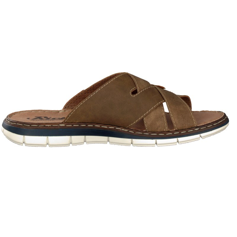 Rieker men mule brown