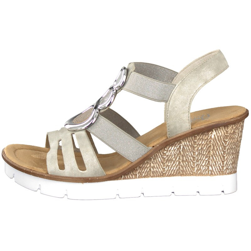 Rieker Woman Alce Sandal Grey