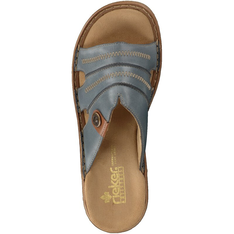 Rieker women mule blue
