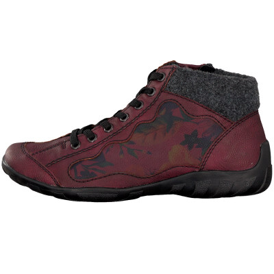 Rieker women lace-up boot red L6544-35
