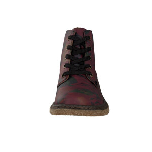 Rieker women lace-up boot red 53240-35