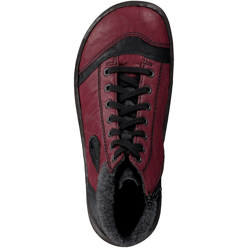 Rieker women lace-up boot red 44441-35