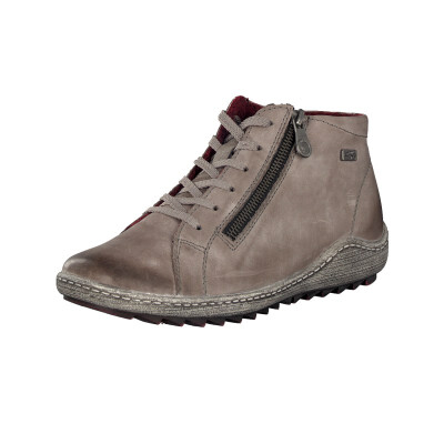 Remonte by Rieker women lace-up boot grey R1470-42