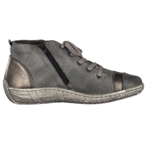 Remonte by Rieker women lace-up boot grey D3870-02
