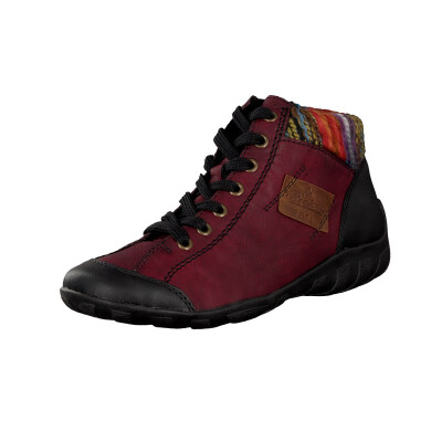 Rieker women lace-up boot red L6540-00