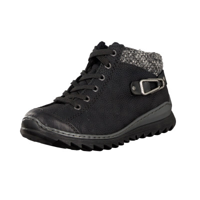 Rieker women lace-up boot black M6238-01 44fe511ae4
