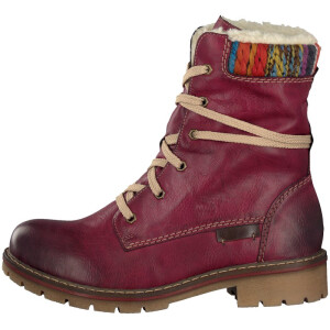 Rieker women lace-up boot red Y9122-35