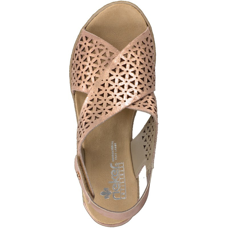 Rieker women sandal rose 62484-31