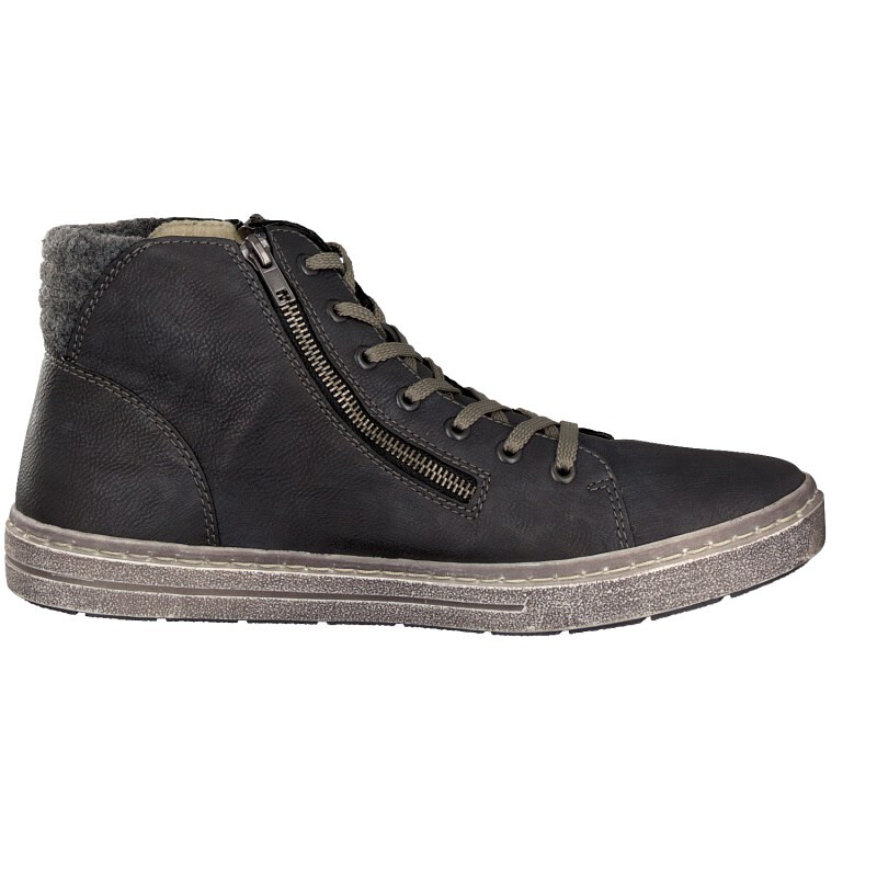 Rieker men lace-up boot grey