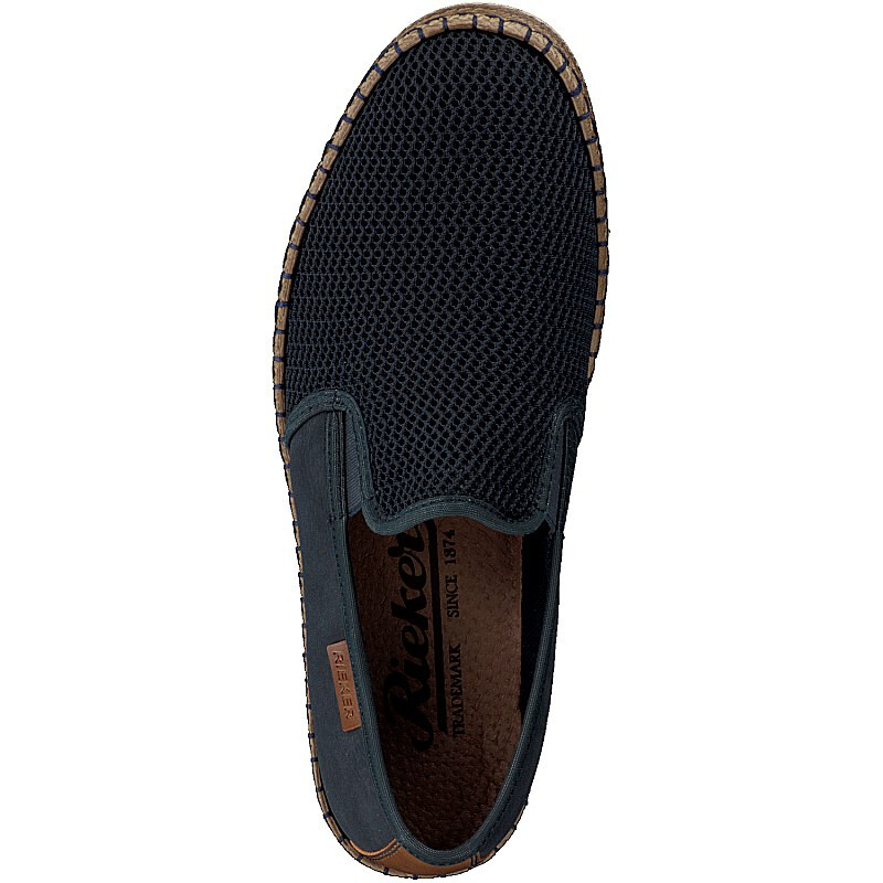 Rieker men slip-on shoe blue