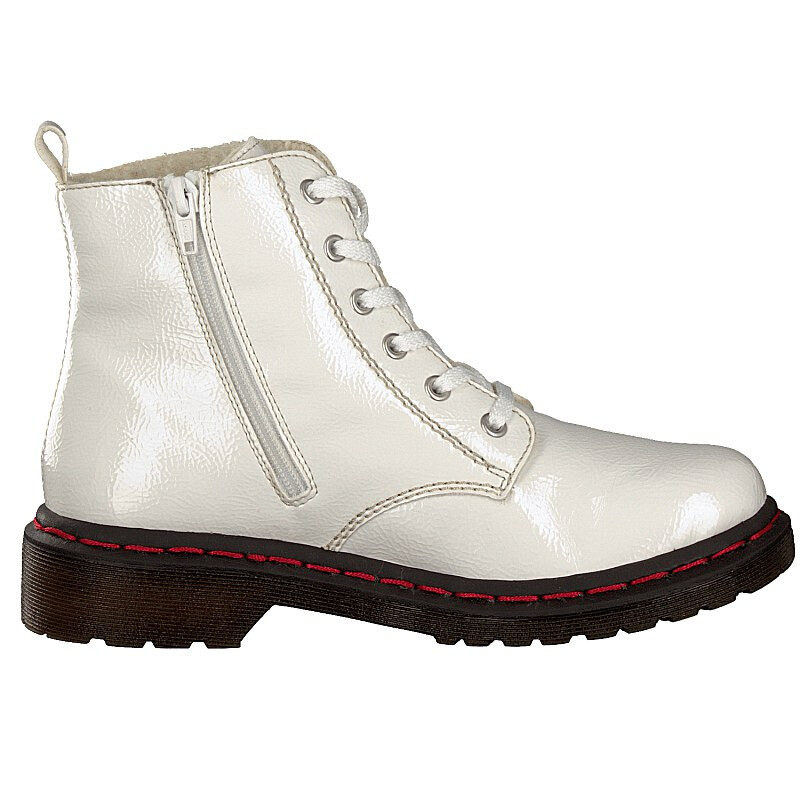 Rieker women lace-up boot white