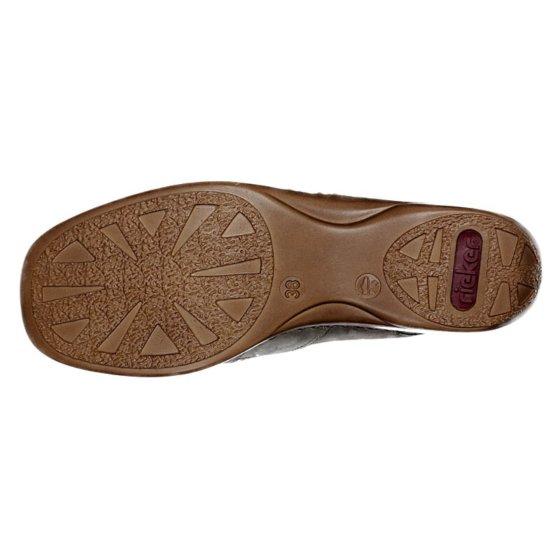 Rieker Damen Slipper taupe