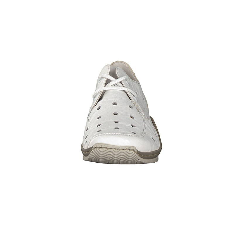 Rieker women lace-up shoe white