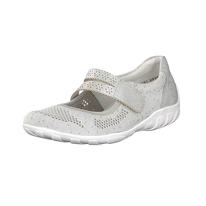 Rieker Damen Slipper silber