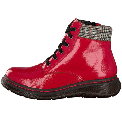 Rieker women lace up boot red