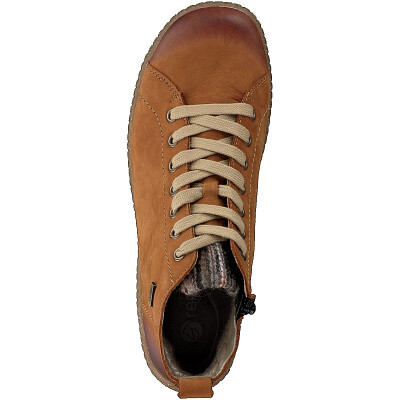 Remonte women lace-up boot brown