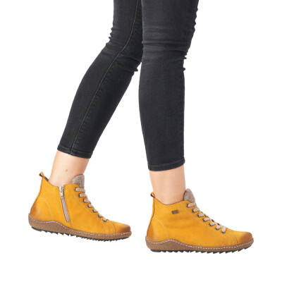 Remonte by Rieker women lace-up boot yellow