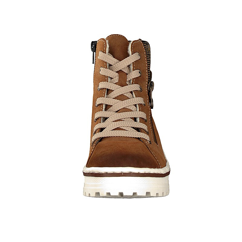 Rieker women lace-up boot brown