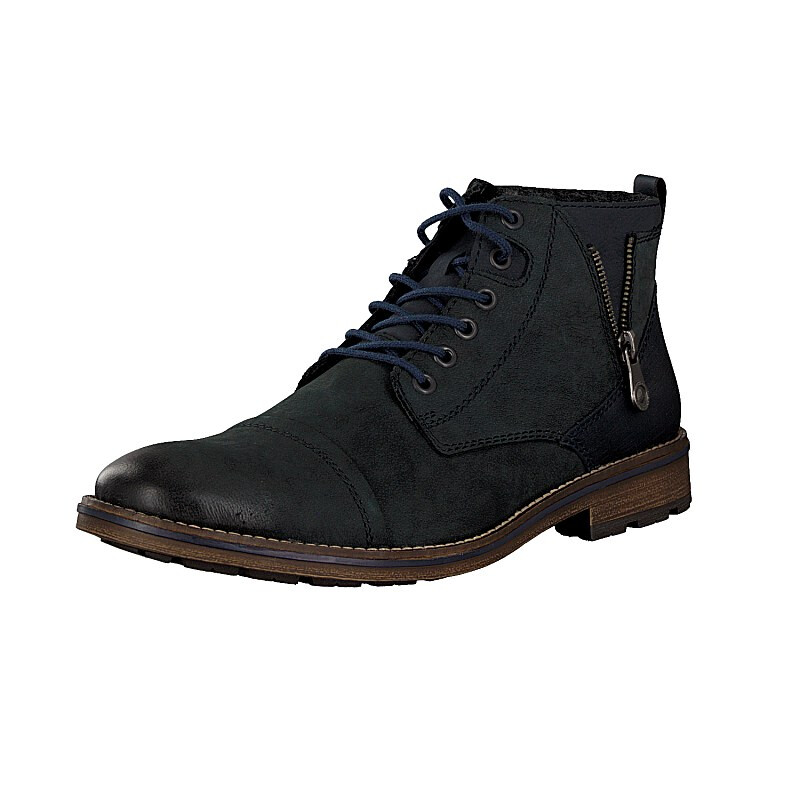 Rieker men lace-up boot blue